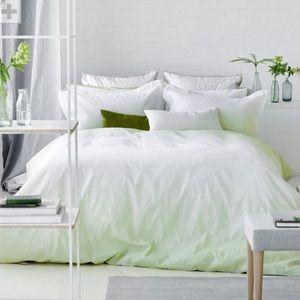 Designers Guild Saraille moss bedding.